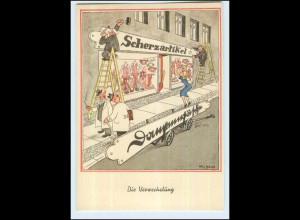W7J49/ Will Halle AK - Die Verwechslung - Humor ca. 1955
