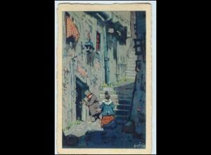W7E86/ Heimkehr Künstler AK Erich Rux ca.1912
