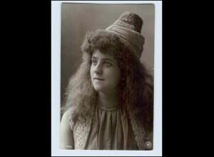 W7G63/ Junge Frau NPG Foto AK Oranotypie 1904