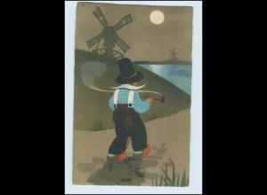 W7B76/ Meissner & Buch Litho AK holländisches Kind 1921 (b)