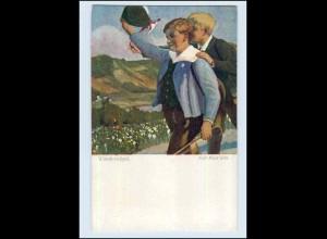 W7D77/ Wandervögel Wiener Kunst AK ca.1912 Kinder (b)