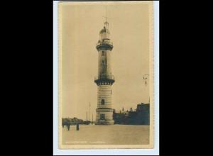 W7B24/ Rostock Warnemünde Leuchtturm Foto AK (b)