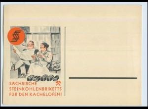 W6M86/ Sächsische Steinkohlenbriketts Werbung AK ca.1935