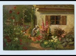 I1575/ Underberg-Serie AK Blütenpracht Reklame ca.1912