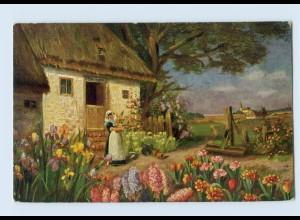I1576/ Underberg-Serie AK Blütenpracht Reklame ca.1912