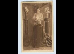 I1584/ Erotik AK nackte Frau ca.1920